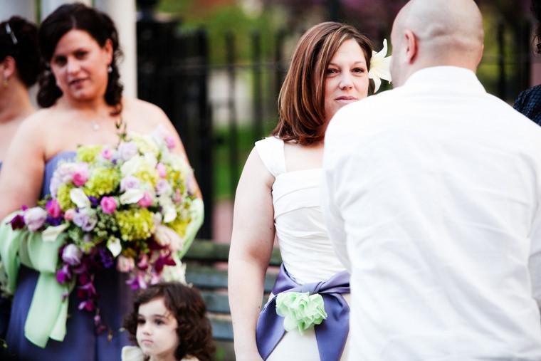 cmac wedding photographer spring outdoor ceremony